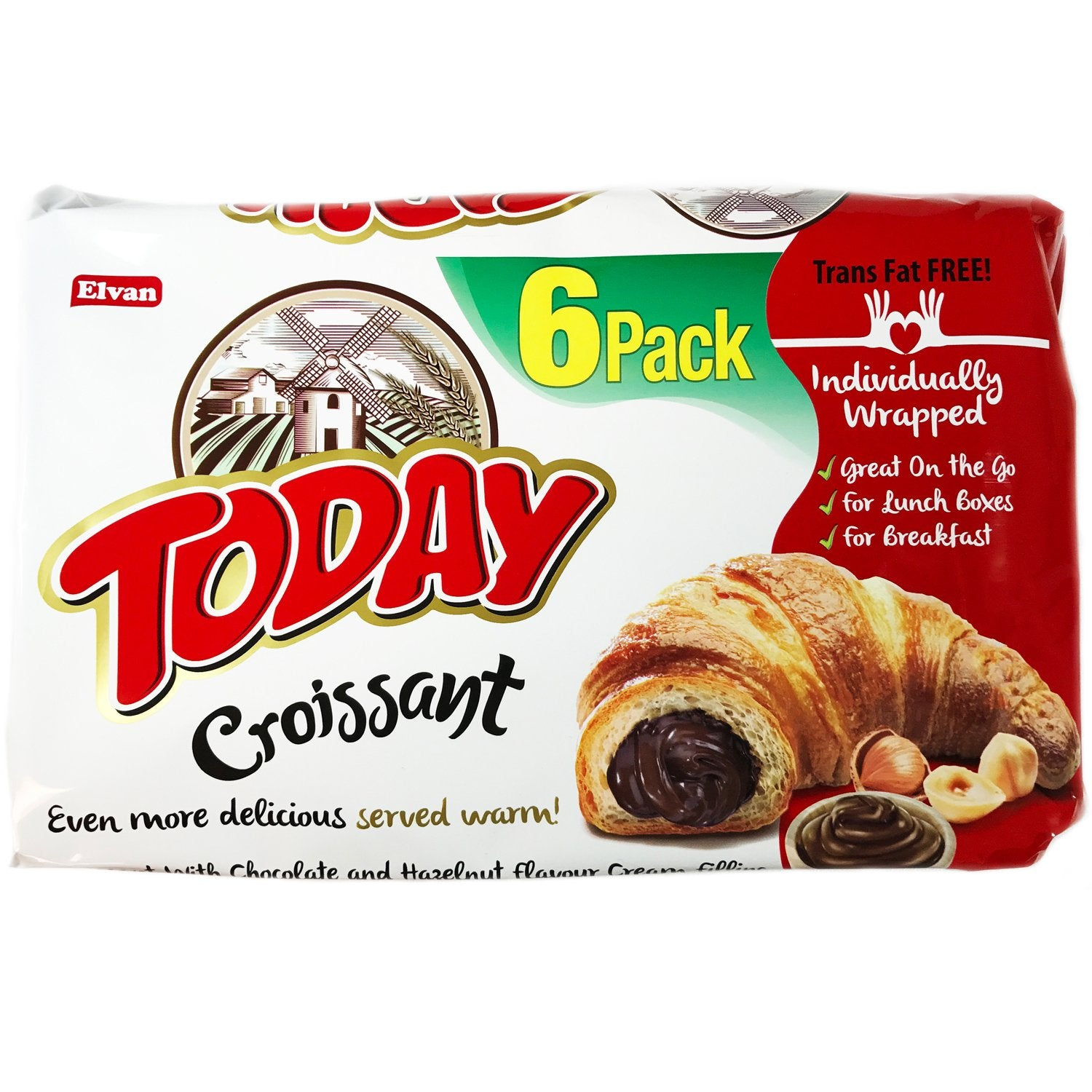 Today Chocolate and Hazelnut Croissant - 6 pack