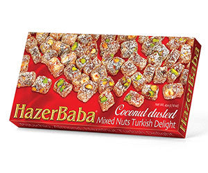HazerBaba Turkish Delight - Coconut Dusted Mixed Nuts