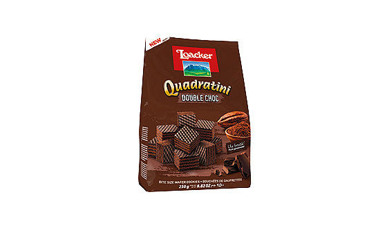 Loacker Quadratini Double Chocolate 250G