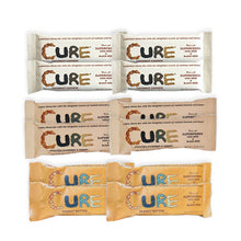 The CURE Bar - Mix Box - Almond, Cashew, Peanut - Box of 12