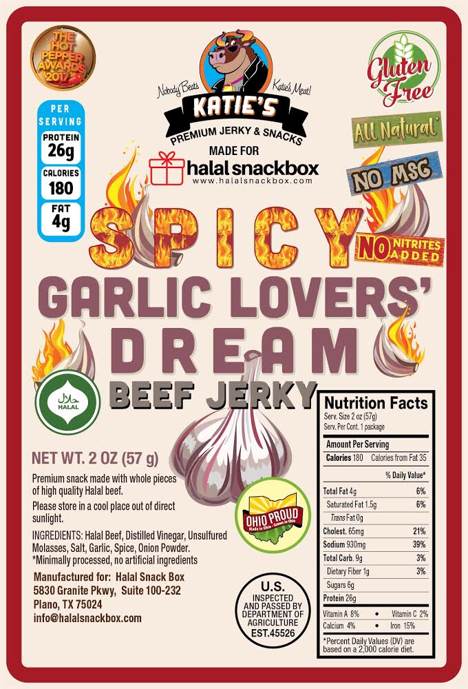 Katies Spicy Garlic Lovers Jerky