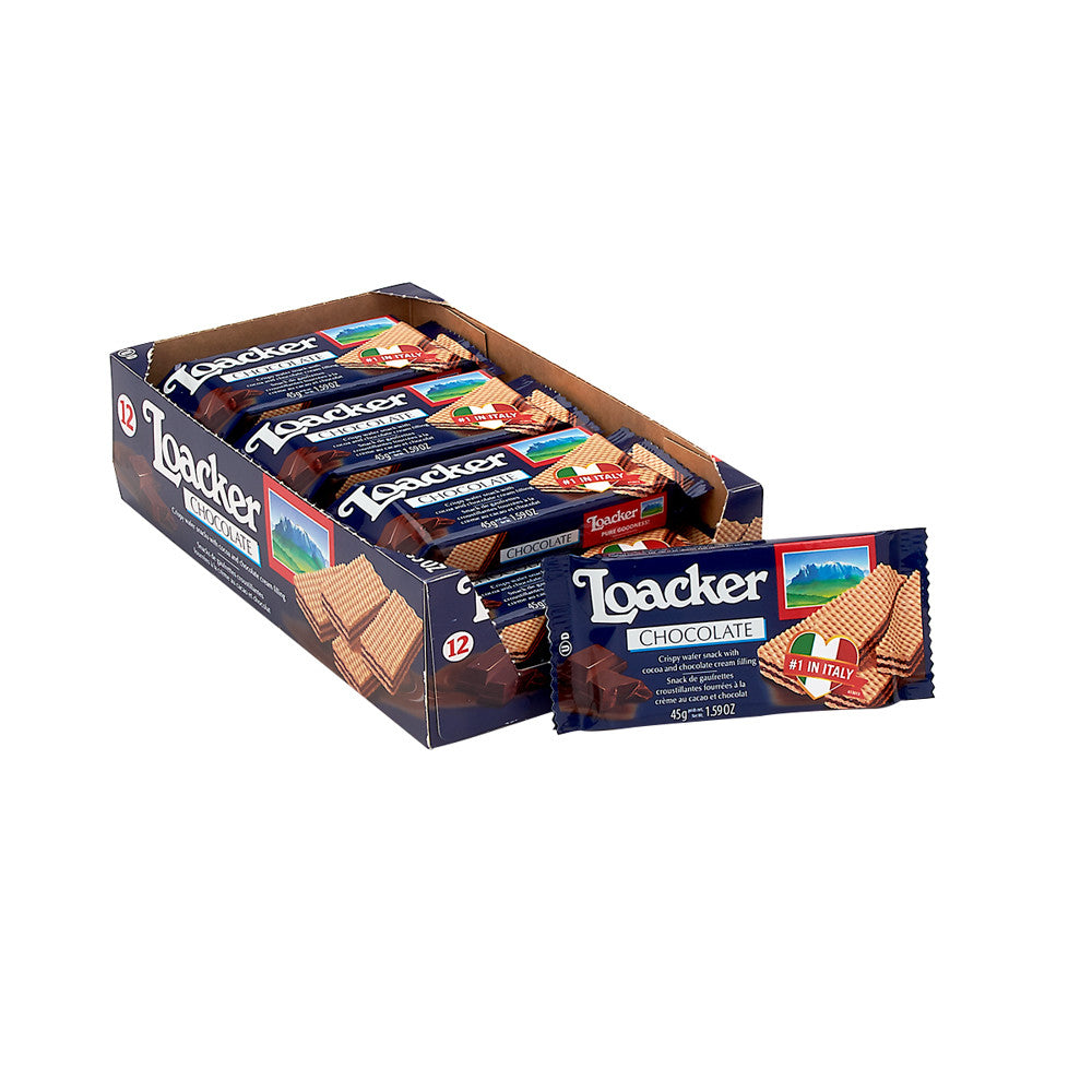 Loacker Chocolate Classic Wafers, 1.59 Ounce (Pack of 12)