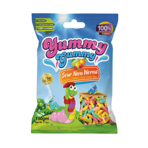 New! Yummy Gummy Sour Neon Worms