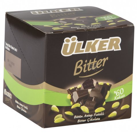 Ulker Cikolata - Dark Chocolate with Pistachio 6 Pack