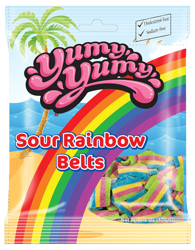 Yumy Yumy Sour Rainbow Belts