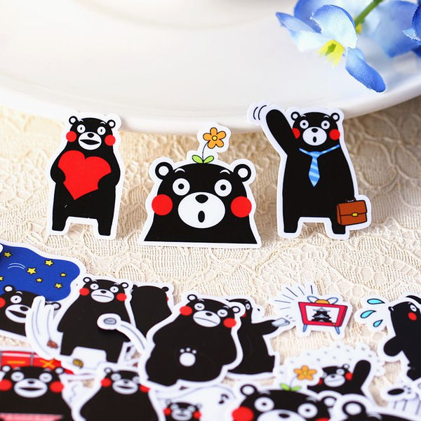 40 Pcs Kawaii Kumamon Sticker Set