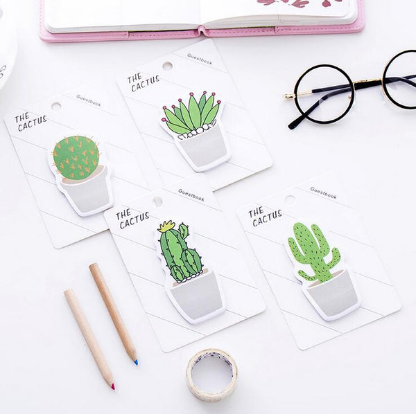 Lovely Cactus Sticky Notes