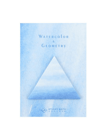 Watercolor & Geometry Sticky Notes