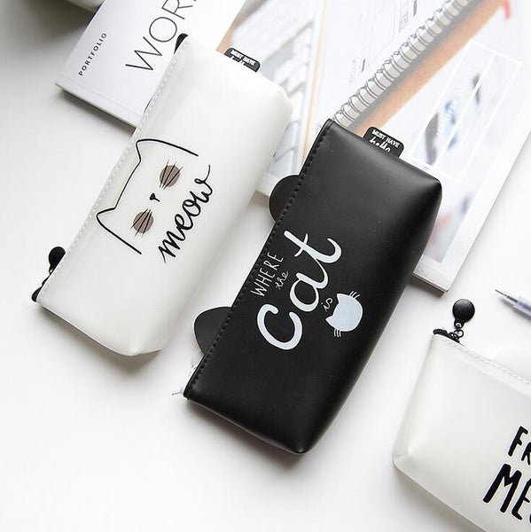 Black & White Cat Pencil Case