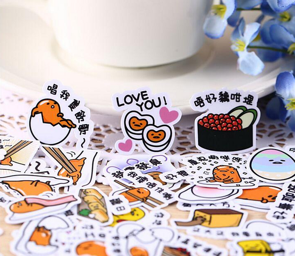 40 Pcs Gudatema The Lazy Egg Sticker Set