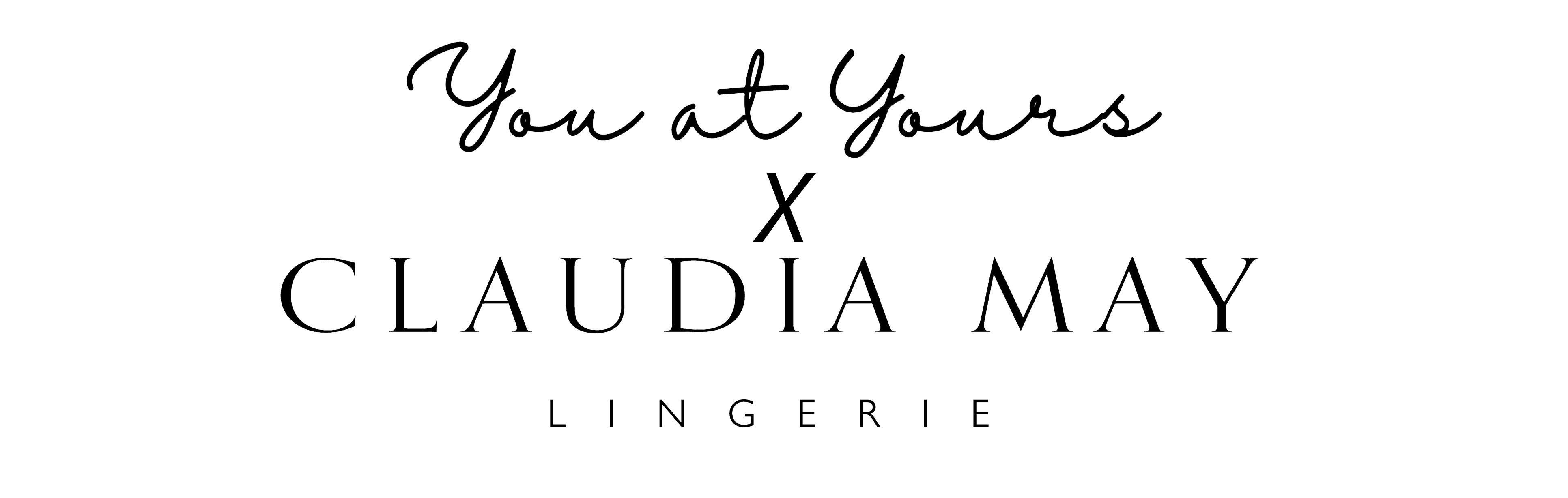 Claudia May x You at Yours collab logo