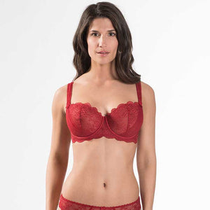 Aubade A L'Amour Comfort Half Cup Bra Rouge Darling | Luxury Lingerie