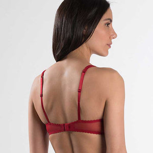 Luxury Lingerie | Aubade A L'Amour Half Cup Bra Rouge Darling 32C-34E