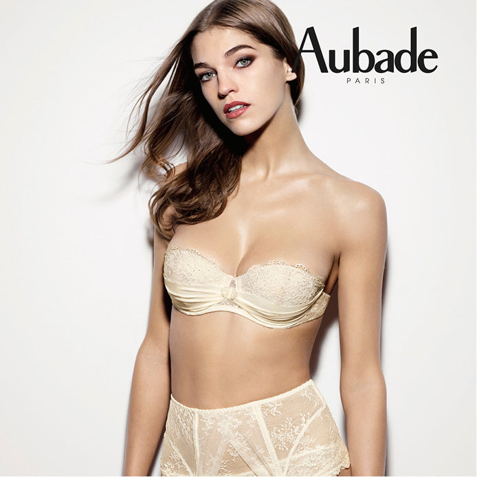 Aubade A'Lamour Moulded Strapless Bra Nacre Luxury Lingerie