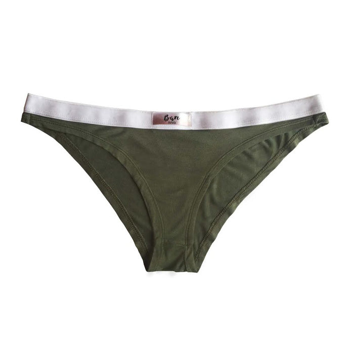 Janay Intimates Bare Bamboo Brazilian Brief Khaki Luxury Lingerie