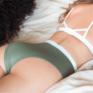 Janay Intimates Bare Bamboo High Waisted Knickers Khaki