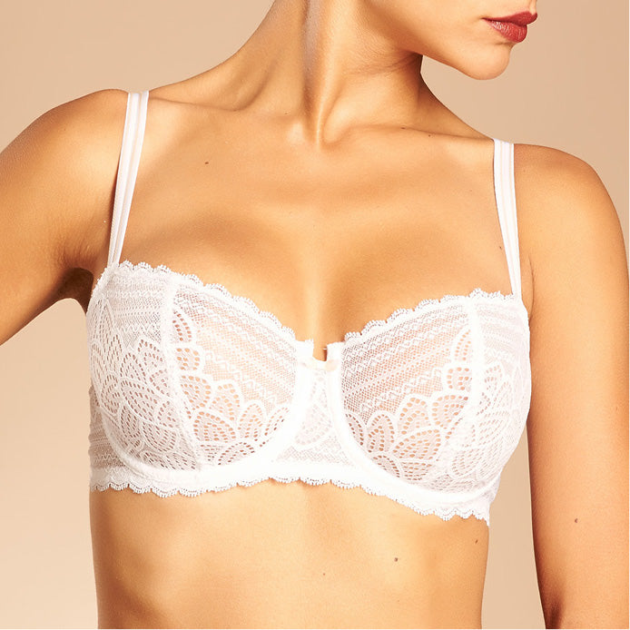 Chantelle Merci Half Cup Bra White Luxury Lingerie