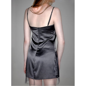 Maison Lejaby Soie Belle Nightdress Anthracite Luxury Lingerie