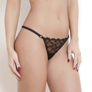 Katherine Hamilton | Sophia Black String | Luxury Knickers