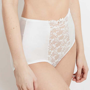 Katherine Hamilton | Sophia Ivory High Waisted Brief | Luxury Knickers