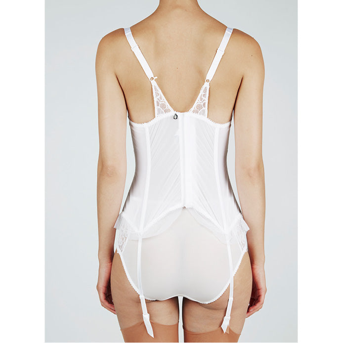 Maison Lejaby Theodora Basque White Luxury Lingerie