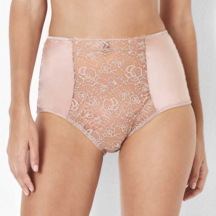 Katherine Hamilton Abbie High Waisted Vintage Rose Brief