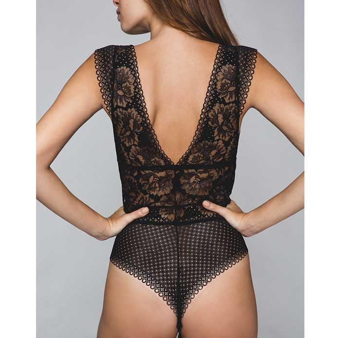 Dot Flower Bodysuit | Maison Lejaby | Luxury Lingerie