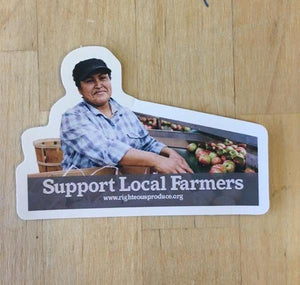 'Support Local Farmers' Sticker