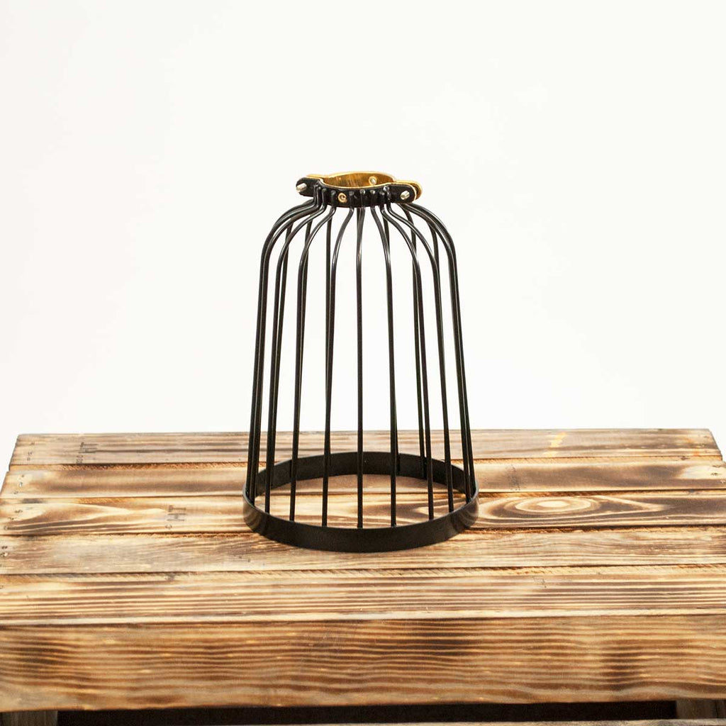 Black Vinyl Coated Elongated Bird Cage Light Guard