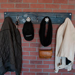 Nautical Blue | Modern Farmhouse Coat Hanger with Iron Key Hooks