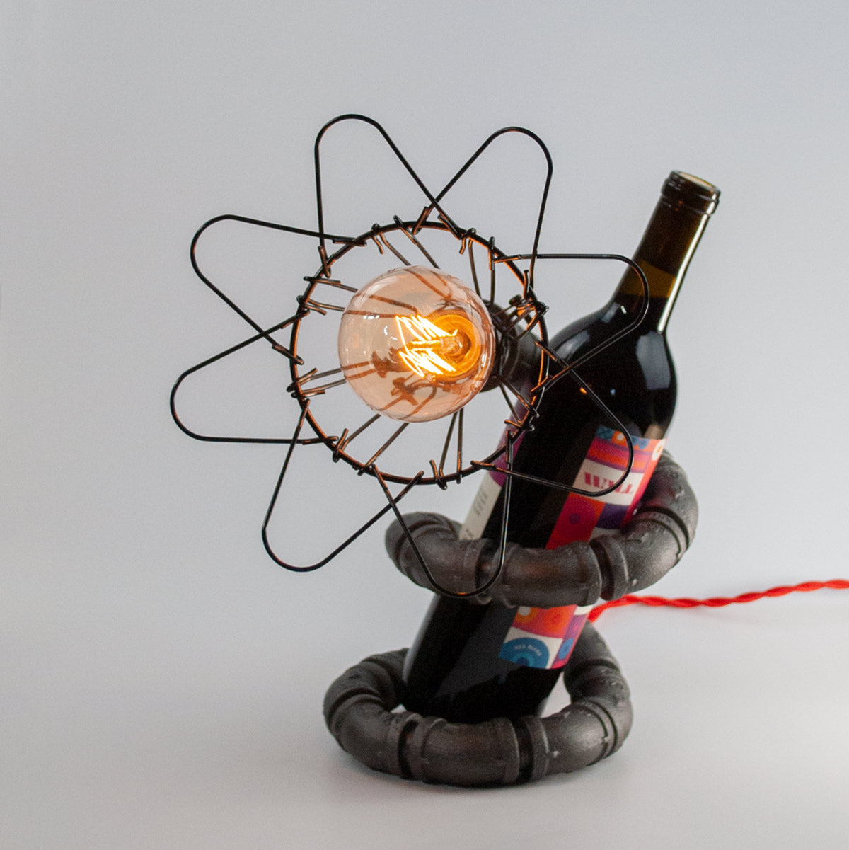 Il Serpente | Industrial Edison Bulb Lamp and Wine Rest