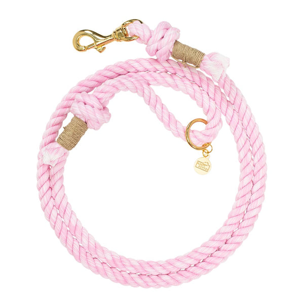 Hand Dyed Classic Cotton Rope Dog Leash - Pink