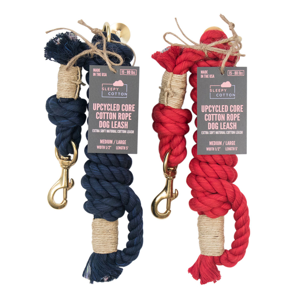 Upcycled Core Cotton Rope Dog Leash - Patriot Set (Ambassador)