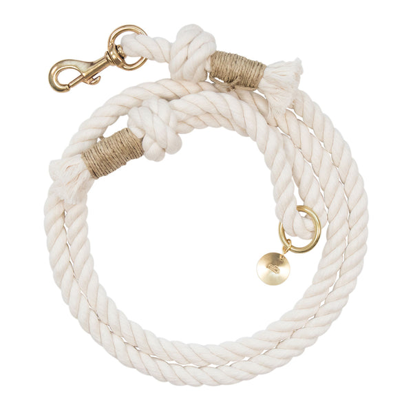 Upcycled Core Cotton Rope Dog Leash - Beige (Ambassador)