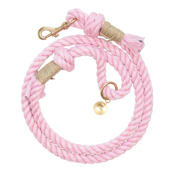 Upcycled Core Cotton Rope Dog Leash - Iced PInk (Ambassador)
