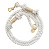 Upcycled Core Cotton Rope Dog Leash - Light Grey