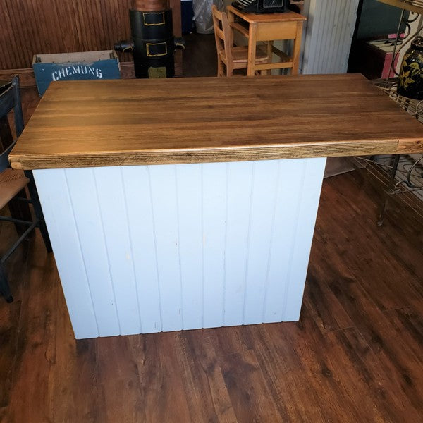 Vintage Kitchen Island Butcher block Top Table / Science Lab Cabinet