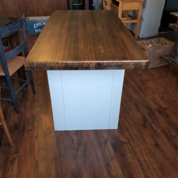 Vintage Kitchen Island Butcher Block Top Table Science Lab Cabinet Old School Warehouse