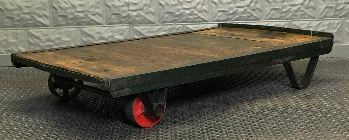 vintage coffee table industrial factory cart