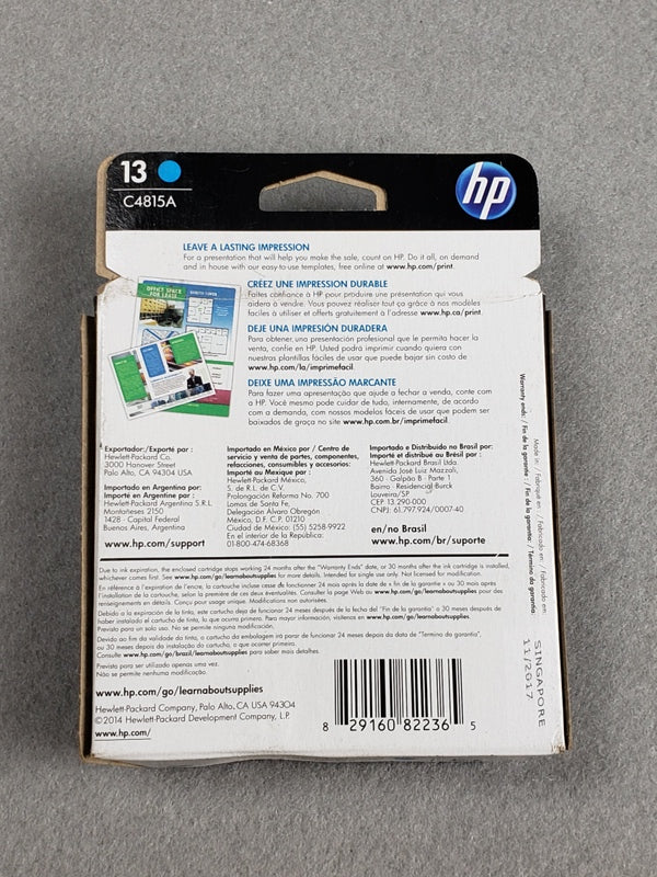 Genuine HP #13 Designjet Cartridge C4815A Cyan