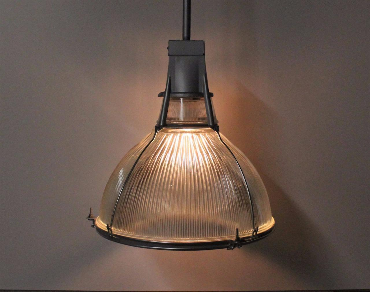Best Selling Products Old School Warehouse Holophane Wiring Diagram Vintage Salvaged Industrial Glass Light Fixture