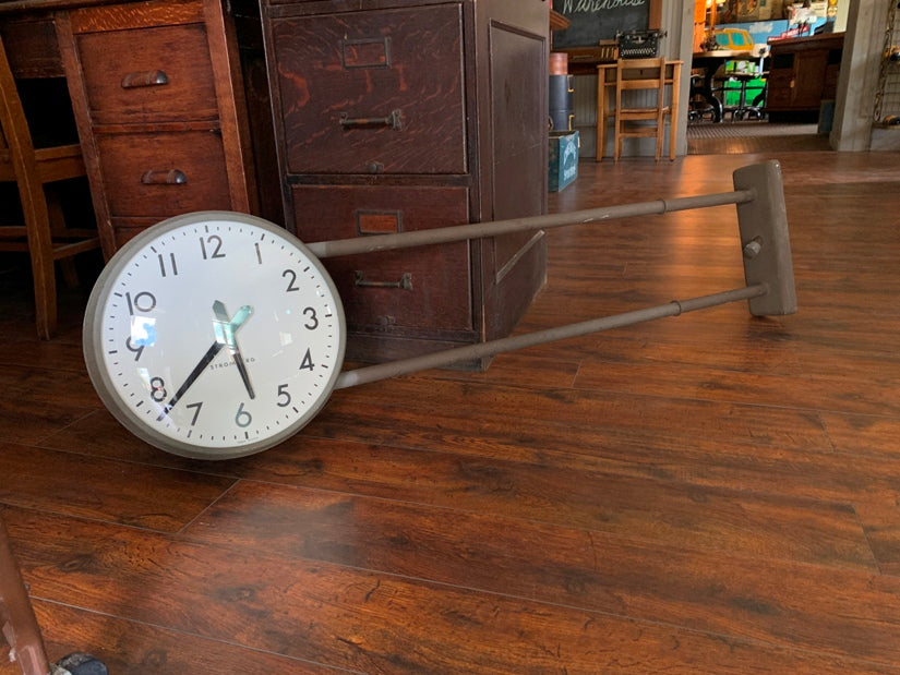 "15"" 1950 Stromberg Clock Double Face Wall/Ceiling/Floor School"