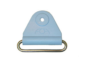 "CHAFE 1.5"" TRIANGLE SKY BLUE W/SS OVAL LOOP,25/PK - 214187-18"