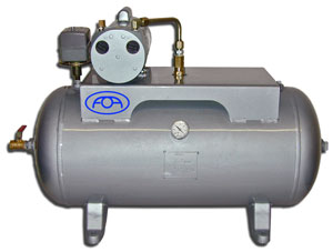 VACUUM SYSTEM, COMPLETE WITH HORIZONTAL 30GL TANK - 700-065H