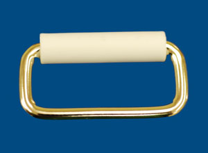 "LOOP, NICKEL PLATED EXT. 2""X.5"" W/WHT PLAST ROLLER - 714379ER"