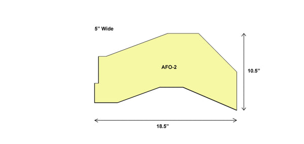 "AFO BLANK MEDIUM MINI 5"" WIDE - AFO-2"