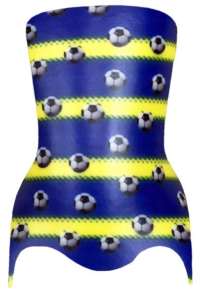"TRANSFER PAPER SOCCER BALLS BLUE/YELLOW 40""X60"" - P-1065"