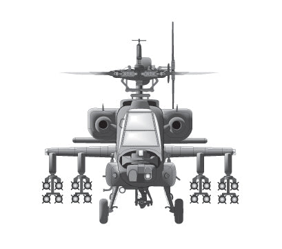 PAPER TRANSFER APACHE HELICOPTER - PT-APACHE