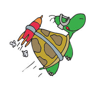 PAPER TRANSFER TURTLE ROCKET POWERED - PT-TURTLE