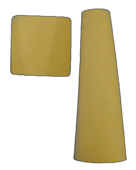"PE-LITE CONES, BEIGE, BOX OF 3, #2 X 14"" - 727832"